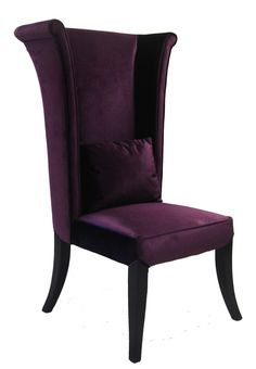 Features:  -Stylish and inventive, manufactured to the highest quality standards.  -Velvet suites many settings.  Chair Design: -Parsons chair/Side chair.  Frame Finish: -Espresso.  Upholstered: -Yes.