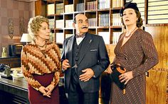 Zoe Wanamaker, David Suchet and Greta Scacchi in Agatha Christie's Poirot: Elephants Can Remember