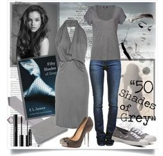 """Fifty Shades of Grey"" by ahill ❤ liked on Polyvore"