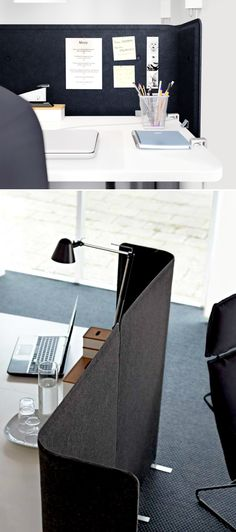 Especially useful in an open office setting, the BEKANT screen creates a quiet and pleasant working environment by providing privacy and absorbing sound,