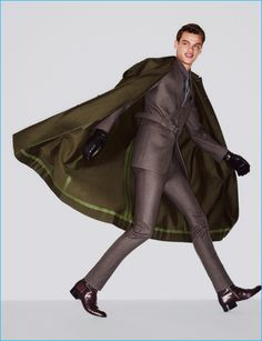 Filip Hrivnak is all smiles in an impeccably tailored suit from Jil Sander.