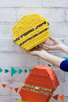 DIY geometric pinata tutorial.