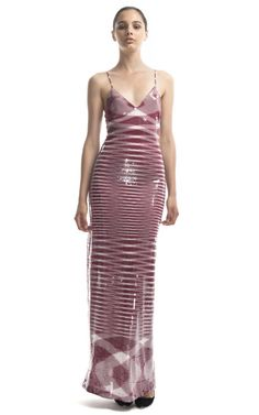 Graphic and sexy//Missoni Embroidered Long Tank Dress