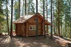 Small Log Cabins with Lofts Small Log Cabin Floor Plans . Cabin Plans With Loft, Small Cabin Plans, Log Cabin Floor Plans, Cabin Loft, Small Log Cabin, Log Cabin Kits, Tiny Cabins, Little Cabin, Cabins And Cottages