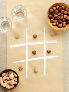 Try something new with this DIY activity that you and your kids can do together before cooking!  This tic-tac-toe game makes for a fun time!