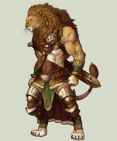 lion_warrior_by_koutanagamori-d3c0mhi.jpg (780×939) #lional #lion #catfolk #felinide