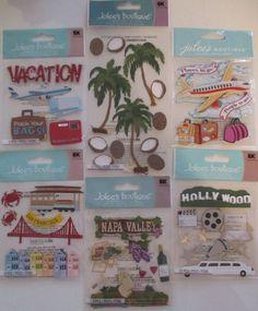 Jolee's Boutique Scrapbooking Stickers CALIFORNIA Hollywood San Francisco Napa #JoleesBoutiqueEKSuccess