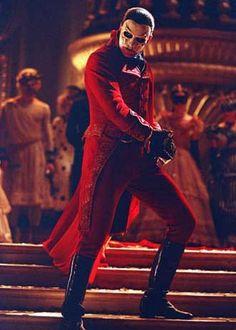Phantom of the Opera: Red death costume, masquerade.