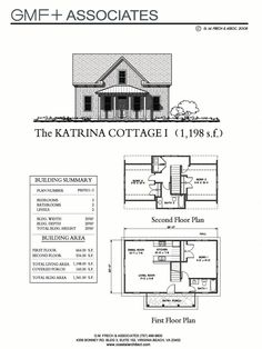 """This traditional """"Katrina Cottage"""" design has 3 bedrooms in 1,198 sq ft.   www.facebook.com/SmallHouseBliss"""