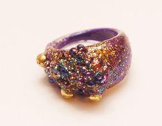 Deep Purple Magical Mystical Statement Ring