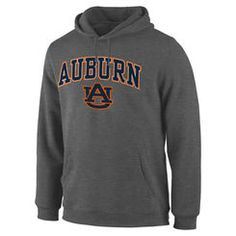 Men's Charcoal Auburn Tigers Campus Pullover Hoodie XL