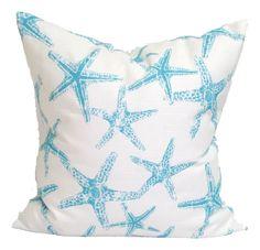 Blue and white starfish