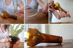 Come realizzare vasi auto-innaffianti dalle bottiglie di vetro (o plastica)