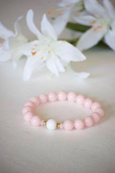 A personal favorite from my Etsy shop https://www.etsy.com/listing/250649137/bracelet-pink-bracelet-pink-stretch