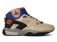 Nike Air Mowabb  -  Nike's ACG line brought sneakers into the wilderness, proving that you didn't need to lace up six-pound boots every time you left the pavement. Tinker Hatfield's Air Mowabb, named after Moab, Utah, and essentially a beefed-up Huarache runner, was at the forefront of the movement, and its design is still mined for gold today.....I had these!!!!! Ugh!!