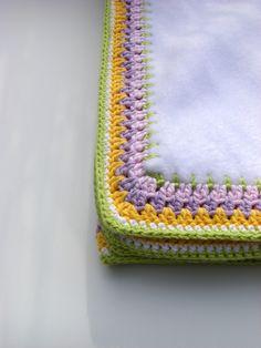 crochet edge fleece baby blanket