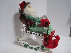 Santa's Elf on a Hobby Horse by PutsyPlace on Etsy