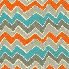 Color palette I like: Burnt orange, turquoise, slate grey.  Yum!