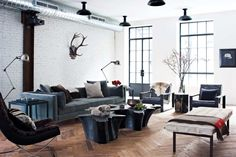 Lumière au plafond. How to Create a Modern Bachelor Pad From Scratch -- The Cut