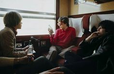 The Rolling Stones travelling through Europe by train, 1964