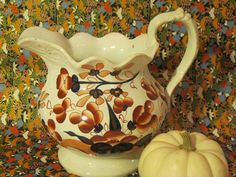 """""""Buddleia"""" Gaudy Welsh jug/pitcher available @ www.noonmarkantiques.com"""