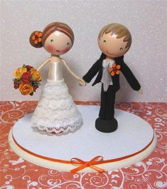 Jessica & Matthew Wedding Cake Topper (sold) | Flickr - Photo Sharing!