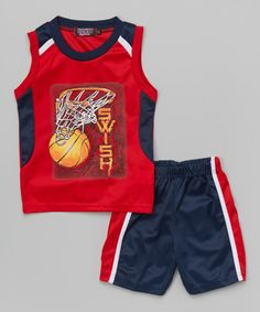 Look what I found on #zulily! Red 'Swish' Tank & Shorts - Toddler by Coney Island Kids #zulilyfinds
