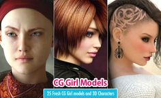 25 Fresh CG Girl models and 3D Character Designs for your inspiration. Read full article: http://webneel.com/3d-cg-girl-models-inspiration | more http://webneel.com/3d-characters | Follow us www.pinterest.com/webneel