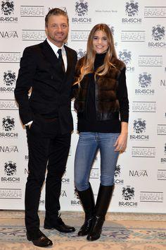Maurizio Braschi and Niccoletta Romanova #braschi #fur #celebrity #fashion #glamour #style #classy #luxury