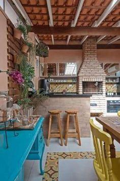 Spanish style homes Rectangle Garden Design, Patio Interior, Spanish Style Homes, Outdoor Kitchen Design, Outdoor Living, Outdoor Decor, Sweet Home, Backyard, Decoration