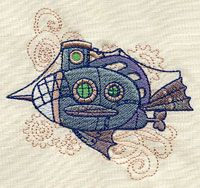 Mechanica Aquatica - Submarine | Urban Threads: Unique and Awesome Embroidery Designs