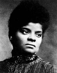 "Do you know this lady? Ida Bell Wells-Barnett, truly valiant, stubborn anti-lynching activist & journalist. ""Brave men do not gather by thousands to torture & murder a single individual, so gagged & bound he cannot make even feeble resistance or defense."""