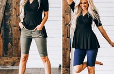 GroopDealz | Classic Motto Leggings - 6 Colors! Linen Bag, Linen Pants, Motto Leggings, Stretch Denim Fabric, Soft Shorts, Skinny Pants, Online Boutiques, Bermuda Shorts, Swimsuits