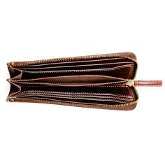 ワンアクションで、賢く会計。一枚革が心地よい、贅沢Lファスナー。