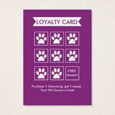 Shop Dog Groomer Loyalty Card - Personalizable created by PetMarketingToolkits. Mobile Pet Grooming, Dog Grooming Shop, Dog Grooming Salons, Dog Grooming Business, Poodle Grooming, Pet Shop, Dog Spa, Dog Cafe, Dog Hotel