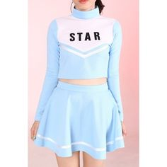 Made To Order Team Star Cheerleading Set ❤ liked on Polyvore featuring dresses