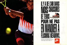 old nike tennis vintage advert posters - Google Search