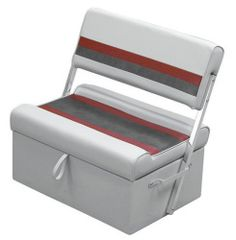 Boat Bench Seat With Storage | ... Seat, Light Gray Red