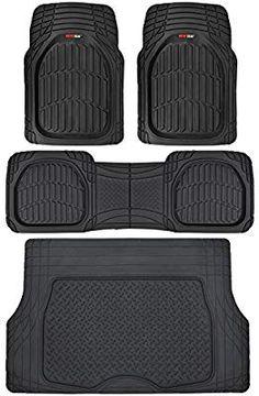 4pc HEAVY DUTY RUBBER car mat set van 4x4 mats UNIVERSAL thick trim-able winter
