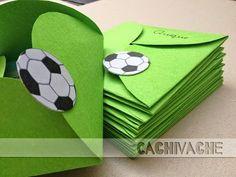 Tarjetas para cumpleaños infantiles. Si quieres preparar una fiesta para tu hijo ambientada en el fútbol, ¡no te pierdas cómo hacer esta fantásticas invitaciones! ;)