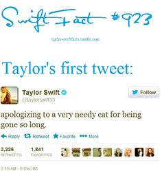 Hahaha if this is for real her first tweet OMG how could you love her any moree