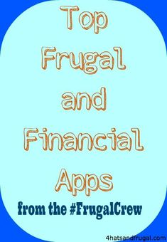 Top frugal and financial apps that help you save money and stay on budget. saving money tips, saving money ideas, saving, #moneytips