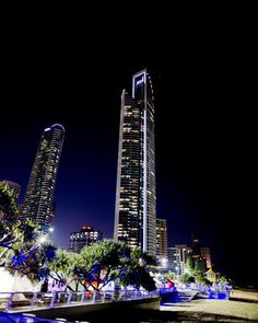 The lights of Surfers Paradise at night its such a sight Gold Coast Australia