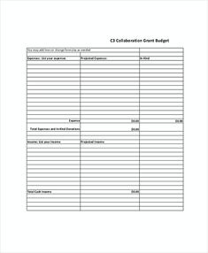 Grant Proposal Budget Template  Research Paper Me