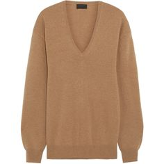 J.Crew Cashmere sweater ($310) ❤ liked on Polyvore featuring tops, sweaters, j.crew, camel, slimming tops, cashmere sweater, slim fit v neck sweater, beige top and cashmere v neck sweater