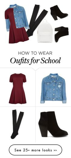 """Back to School #1"" by tiana1235a on Polyvore featuring Aéropostale, Topshop, River Island, PB 0110 and Report"