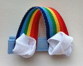 Rainbow hair clip. Perfect hairbow for treat bags or a birthday girl!