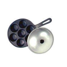 Thai Kanom Krok Pan with Lid A solid iron pan. Easy to use, makes great Aebleskivers. Also good for Japanese Takoyaki. Fun to use with children who like to cook.