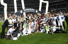 Real Madrid Champions League winners.  Hala!