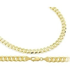 At Sears. ApexJewels.com- -Curb Cuban Necklace 14k Yellow Gold Chain Solid Link 4.6mm - 22 Inch $997